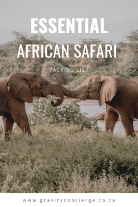 Essential African Safari Packing List